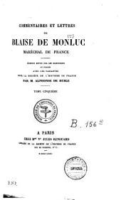 Commentaires: et lettres, Volume5