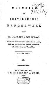 Geschied- en letterkundig mengelwerk: Volume 7