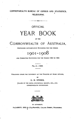 Official Year Book of the Commonwealth of Australia No  2   1909 PDF