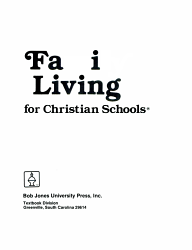 Family Living For Christian Schools Book PDF