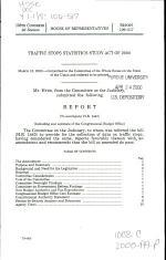Traffic Stops Statistics Study Act of 2000