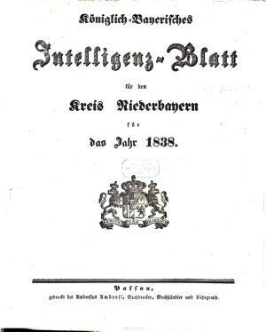 K  niglich Bayerisches Intelligenzblatt von Niederbayern PDF