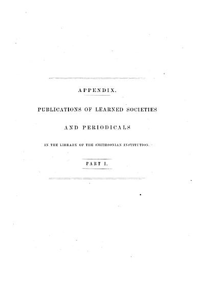 Publications of Learned Societies and Periodicals in the Library of the Smithsonian Institution PDF