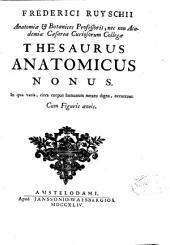 Frederici Ruyschii ... Thesaurus anatomicus nonus. In qua varia, circa corpus humanum notatu digna, accurrunt. Cum figuris aeneis