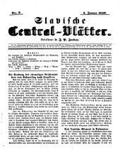 Slavische Central-Blätter. Redakteur: J(ohann) P(aul) Jordan: Volume 1