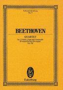 Quartet for 2 violins, viola and violoncello