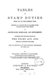 Tables of stamp duties from 1815 to the present time