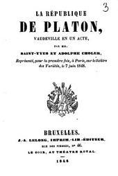 La république de Platon: Vaud. 1 a