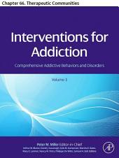 Interventions For Addiction: Chapter 66. Therapeutic Communities