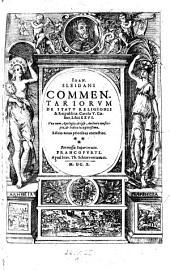 """Ioan. Sleidani"" Commentariorvm De Statv Religionis & Reipublicæ, Carolo V. Cæsare, Libri XXVI. ... Editio noua prioribus correctior: 1"