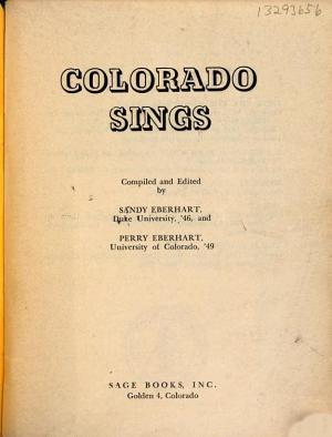 Colorado Sings