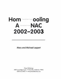 Homeschooling Almanac 2002 2003 PDF