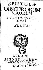 Epistolae obscurorum virorum tertio volumine auctae