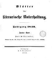 BLATTER FUR LITERARISCHE UNTERHALTUNG