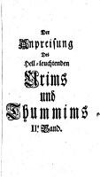 Anpreisung des hell leuchtenden Urims und Thummims  des Lichts und der Wahrheit PDF