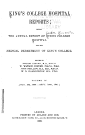 King's College Hospital Reports: Volume 4