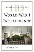 Historical Dictionary of World War I Intelligence PDF