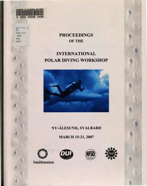 Proceedings of the International Polar Diving Workshop PDF