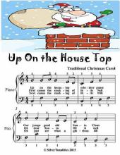 Up On the House Top - Simplified Piano Sheet Music Junior Edition