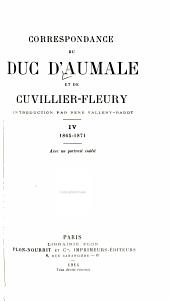 Correspondance du duc d'Aumale et de Cuvillier-Fleury: Volume4