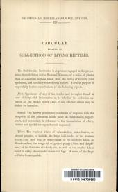 Circular Relating to Collections of Living Reptiles