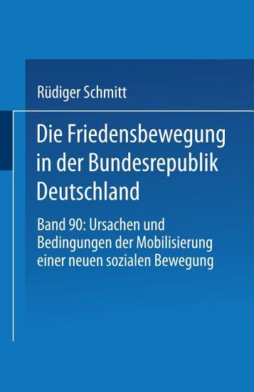 Die Friedensbewegung in der Bundesrepublik Deutschland PDF
