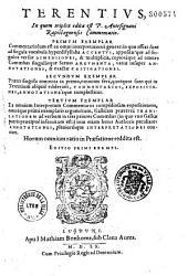 Terentius, in quem triplex edita est P. Antesignani Rapistagnensis commentatio...