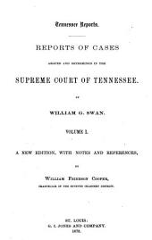 Tennessee Reports: Reports of Cases Argued and Determined in the Supreme Court of Tennessee, Volume 31