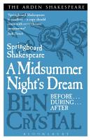 Springboard Shakespeare  A Midsummer Night s Dream PDF