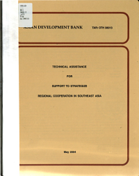 Technical Assistance for Support to Strategize Regional Cooperation in Southeast Asia PDF