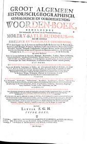 Groot algemeen historisch, geografisch, genealogisch, en oordeelkundig woorden-boek ...: Volume 4