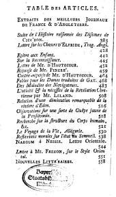 Journal des sçavans: 1765, 1/2. Janv./Févr.
