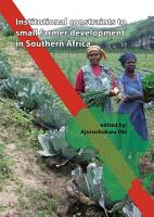 Institutional Constraints to Small Farmer Development in Southern Africa PDF