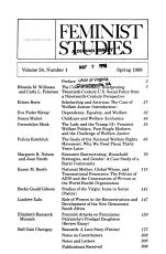 Feminist Studies PDF