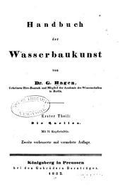 Handbuch der Wasserbaukunst: Teil 1