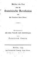ber die franz  sische Revolution und die Ursachen ihrer Dauer PDF