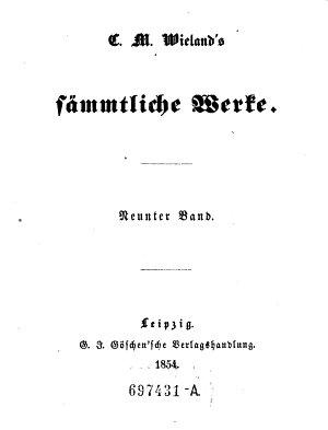 C  M  Wieland s S  mmtliche Werke PDF