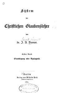 System der christlichen Glaubenslehre PDF