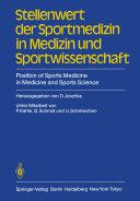Stellenwert der Sportmedizin in Medizin und Sportwissenschaft/Position of Sports Medicine in Medicine and Sports Science