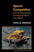Sperm Competition and Its Evolutionary Consequences in the Insects PDF