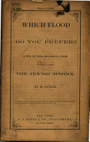 Which flood do you prefer  A nut for Bible students to crack  To which is added the Jewish Sphinx PDF
