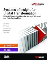 Systems of Insight for Digital Transformation  Using IBM Operational Decision Manager Advanced and Predictive Analytics PDF