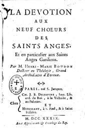 La dévotion aux neuf choeurs des Saints Anges