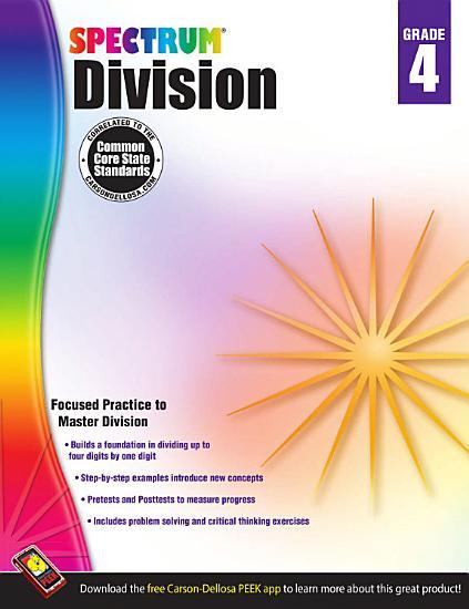 Division Workbook  Grade 4 PDF