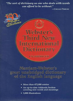 Webster s Third New International Dictionary of the English Language  Unabridged PDF