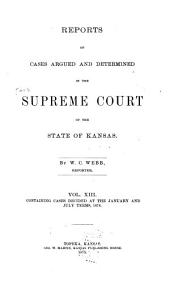 Kansas Reports: Volume 13