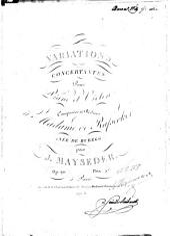 Variations concertantes: pour piano et violon ; op. 20