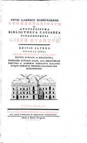 Petri Lambecii Hamburgensis Commentariorum de augustissima Bibliotheca cæsarea vindobonensi liber primus[-octavus] ...: Editio altera opera et studio Adami Francisci Kollarii ...
