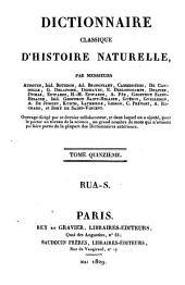 Dictionnaire classique d'histoire naturelle: Rua - S, Volume15