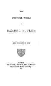 The Poetical Works of Samuel Butler: Volume 2